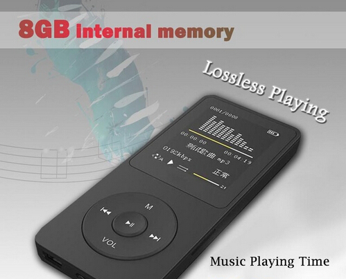 """New--8GB 100 Hours Music playing lossless MP4 player 1.8"""" TFT screen MP4 with E-book video photo Music FM radio Clock Data(China (Mainland))"""
