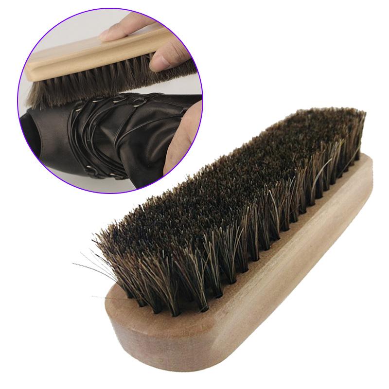 Professional Wooden Handle Shoes Shine Brush Polish Bristle Horse Hair Buffing Brush Sale -- -- J2Y(China (Mainland))