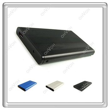 100% Brand New 2.5 inch  HD USB 2.0 Hard Drive Disk Case Enclosure Black Free Shipping