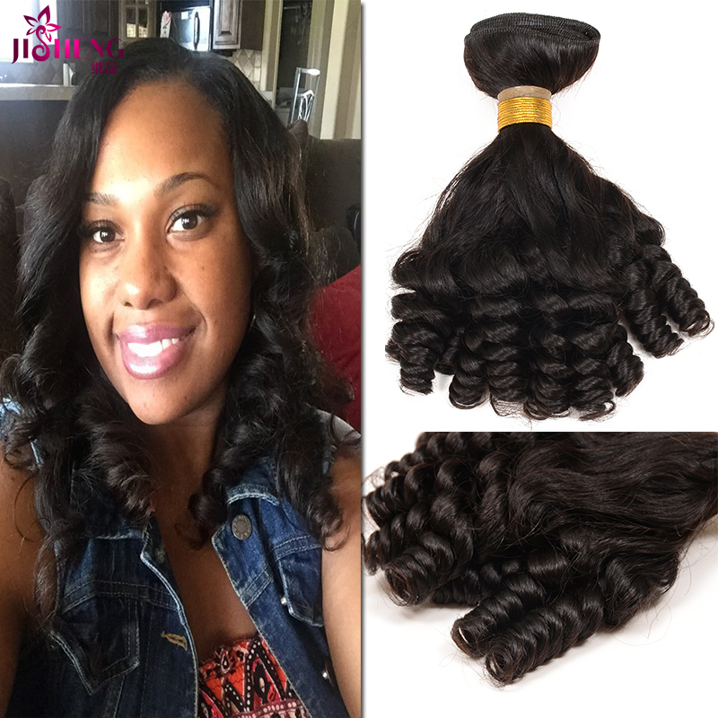 Beauty Aunty Funmi Bouncy Curls 3pcs Lot Peruvian Virgin Hair Extensions 7a 100% Human Hair Weaving Aliexpress Hair Extensions<br><br>Aliexpress