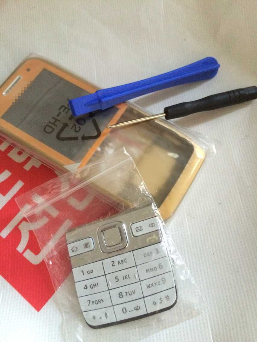 For Nokia E52 Full Housing Cover Case With Original+Keypad+Free tools Free Shipping(China (Mainland))