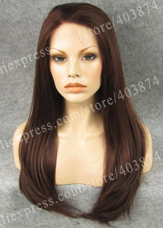 Retail/Wholesale Promotion N2-33/35 Fashion Long Straight Auburn Color Synthetic Lace Front Wigs<br><br>Aliexpress