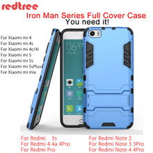 Buy Xiaomi Redmi Note 4x 4 3 Pro Case Luxury Full Cover Iron Man Case Xiaomi mi5 mi6 mi5s mi4c Redmi 4 Pro 3s Shockproof Xiomi for $2.83 in AliExpress store