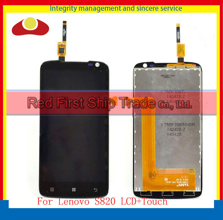Original For Lenovo S820 Lcd Display Assembly Complete + Touch Screen Digitizer 4.7 inch Free Shipping