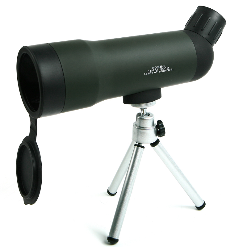 HD Monocular Telescope 20x50 Zoom Night Version Outdoor Camping Spotting Scope With Tripod HW2050