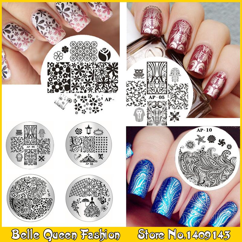 1PCE DIY Design Polish Beauty Charm Nail Stamp Stamping Plates 3D Nail Art Templates(China (Mainland))