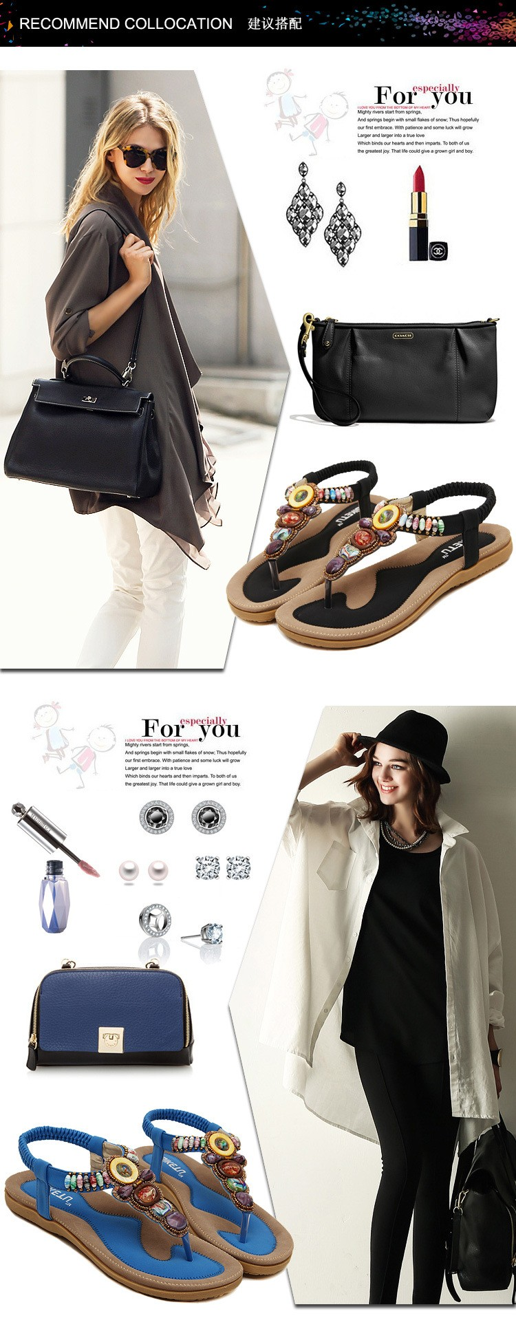 Big Size 35-42 Rhinestone Flip Flops Women Sandals Bohemian Beading Ladies Flat Sandals Shoes Slippers Tong Femme Sandales NX86