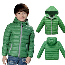 Children Jackets Boys Girl Korean fashion down coat, 3-12 Years Baby Winter Warm Coat Kids fashion thick warm winter hooded Coat(China (Mainland))