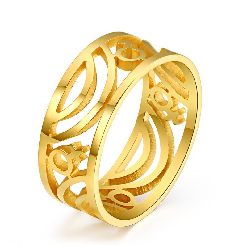 trinket bijouterie female ring 18k gold plated stainless steel large rings gay pride jewelry(China (Mainland))