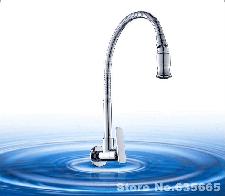 Wall Mounted Single Cold Water Faucet Modern Kitchen
