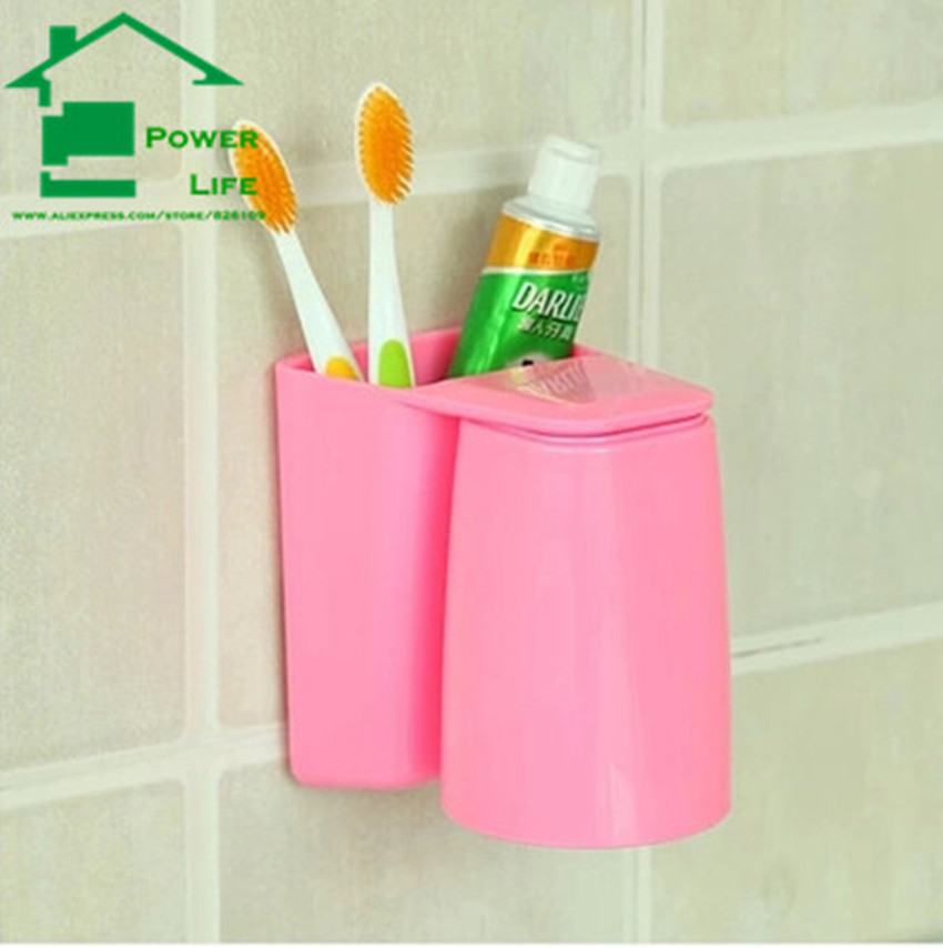 PowerLife Magnetic Hold Toothbrush Cup Tooth Mug Toothpaste Suction Wall Mount Bathroom SpinBrush Sucker Rack Stand Holder(China (Mainland))