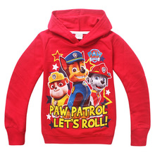 Paw Sweatshirts hoodies girls boys clothing More color kids clothes cartoon dog tops casual style 1 pcs(China (Mainland))
