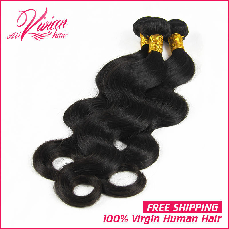 Unprocessed King Hair Products Mixed Length 3pcs Best Quality Peruvian Virgin Hair Body Wave Extension Machine Weft(China (Mainland))