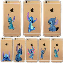 Buy Transparent Cute Stitch Cartoon Emoji Design Cases iphone 6 6S 7 Samsung Galaxy A3 A5 2016 Xiaomi Redmi Hongmi 3S Soft Cover for $1.29 in AliExpress store
