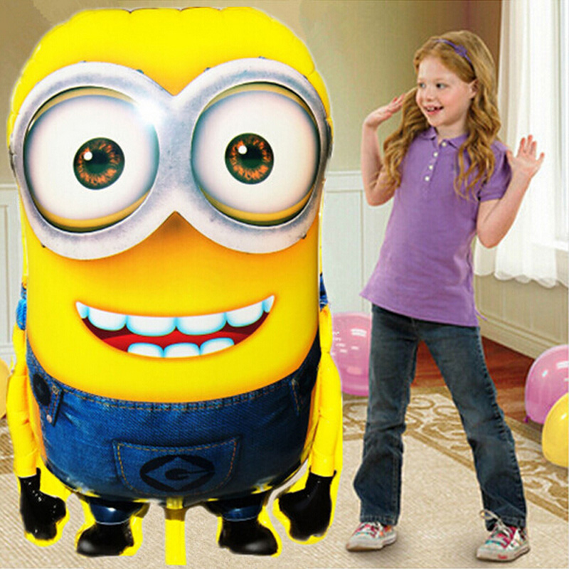 1PCS 92*65cm Big Size Minions Balloons Classic Toys Christmas Birthday Wedding Decoration Party inflatable air balloon(China (Mainland))