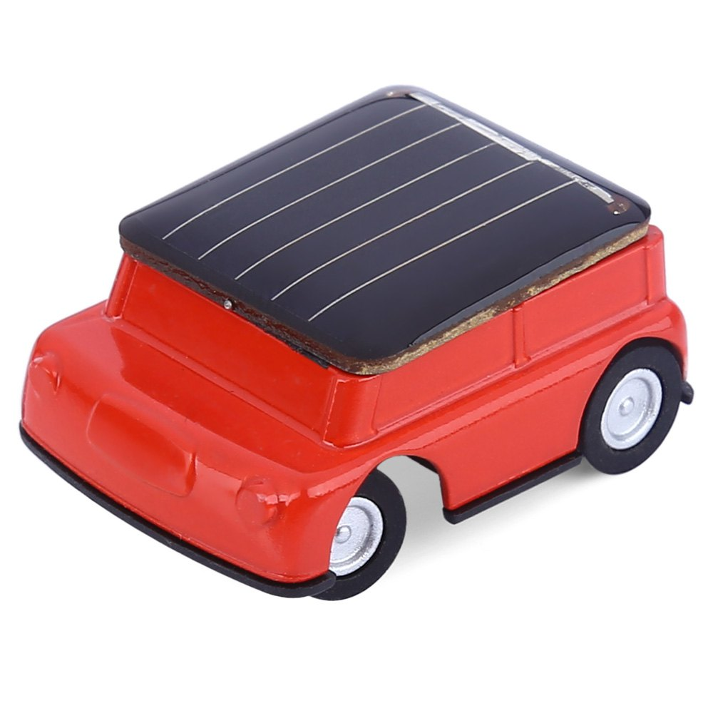 Lovely Mini Solar Power Red Toy Car Racer The World's Smallest Educational Gadget Children Gift(China (Mainland))