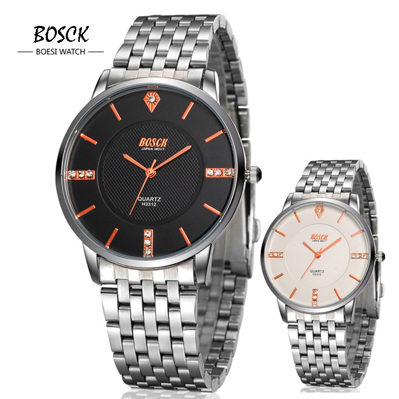 BOSCK Brand Relogio Masculino Simple Style Male Clock Stainless Steel Watch Men Fashion Casual Watch Quartz Wristwatch WS172<br><br>Aliexpress
