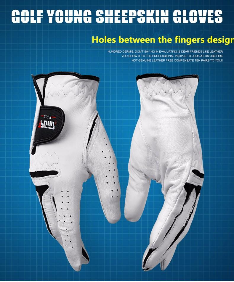 Guantes Golf Eldiven Golf Gloves 2016 Top New Genuine Leather Men Full Glove Men's Left Hand Beginner Necessary