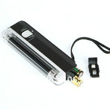 Black Mini 2in1 Handheld Torch Portable UV Light Money Detector Lamp Pen T0137 P(China (Mainland))