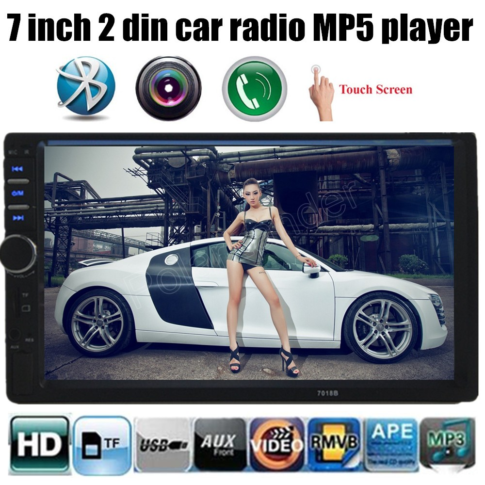 1080HD 2 Din Car MP3 Player Touch screen Bluetooth Car Stereo Radio Player FM/MP5/USB/AUX Car Electronics(China (Mainland))