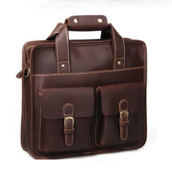 Men genuine leather handbags British restore ancient ways bags men messenger bags men business shoulder bags free shipping