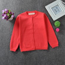 2016 Kids Pullover Cardigan Sweaters Baby Boys Girls Sweater Children Autumn Winter Spring Sweater Kids Unisex O-neck Sweater