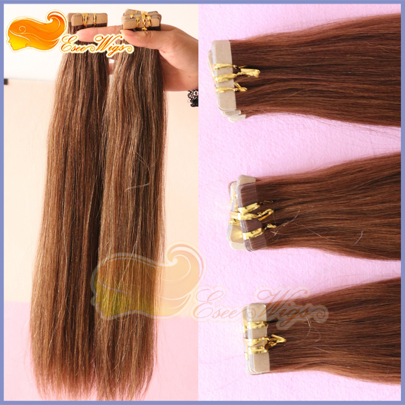 Free Shipping Hair Extension Adhesive Tape In Extension Indian Virgin Hair With Adhesive Tape Hair 30#(China (Mainland))