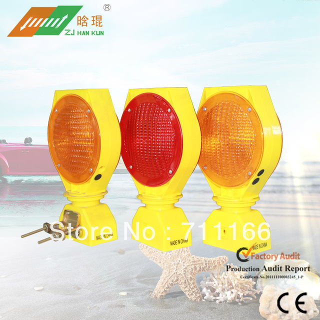 Solar Traffic Road Barrier Warning Light professional manufacture