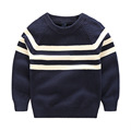 2016 Spring Autumn Boys Black And White Striped Cotton Long Sleeved Sweatshirts Handsome Kid Knitting Cardigan