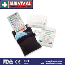 TR005 fda approved first aid kit mini first aid kit/CPR Mask Kits/CPR Breathing Mask(China (Mainland))