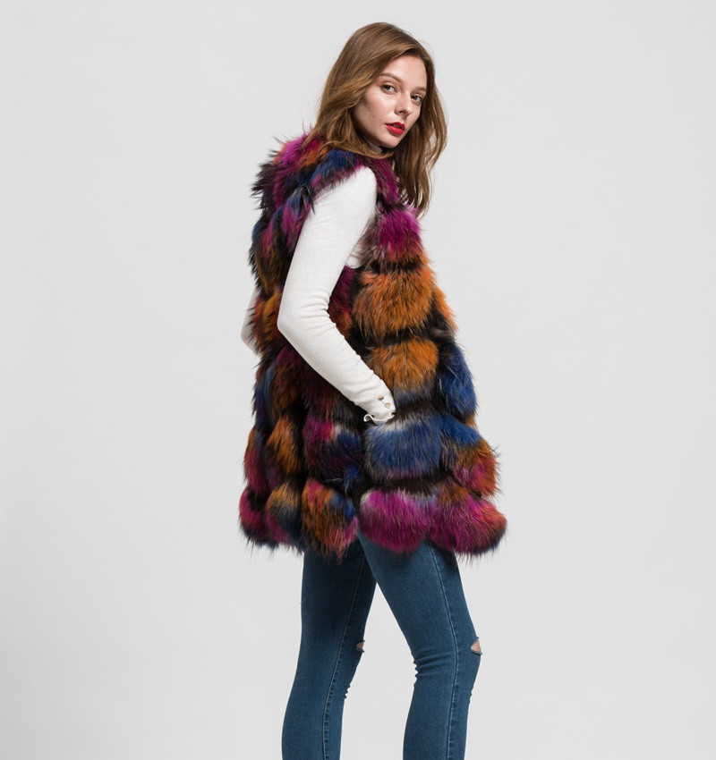 S1562 New 2016 Design Lady real raccoon fur vest or women winter new style gilet fashion coat Wholesale / Retail