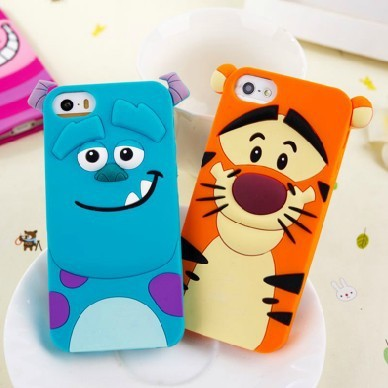 New arrival tiger Monsters Inc. Sulley Marie/Alice Cat slinky dog Soft silicone rubber cases covers for iphone 5 5s 5g 4 4s 4g(China (Mainland))