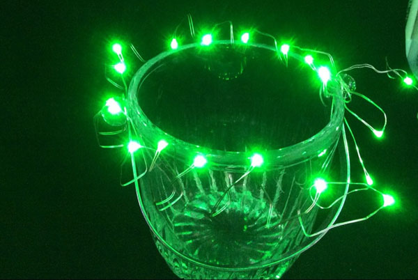 Free DHL Battery Operated 2M 20 LEDs Micro Copper LED string fairy starry vine lights for Christmas Halloween Holiday Decoration(China (Mainland))
