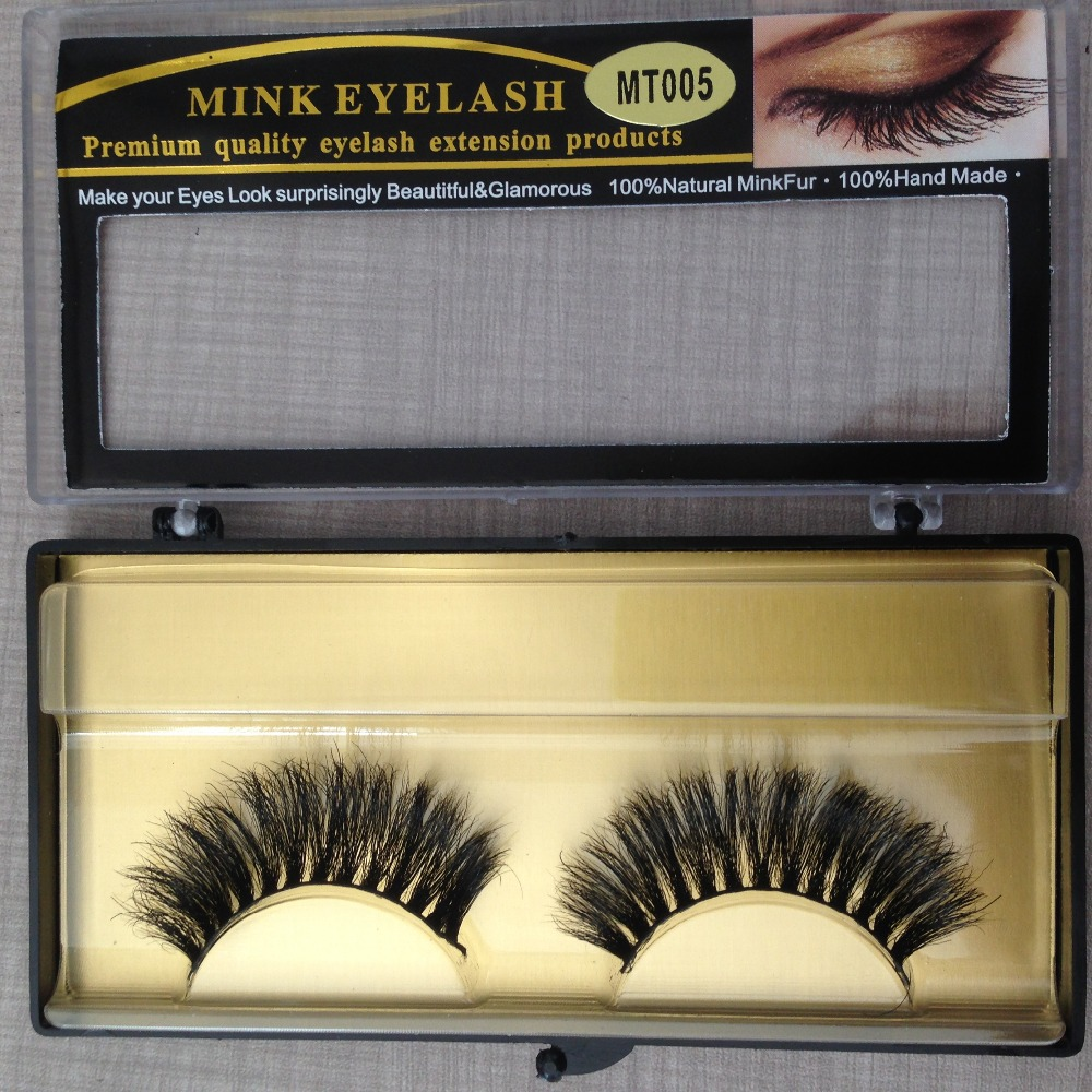 MT05 Mink Fake Eyelash 1Pair Long Thick False Eyelashes Hand Made Eyelashes High Quality Eye Mink Lashes Makeup Brushes Eyelash(China (Mainland))