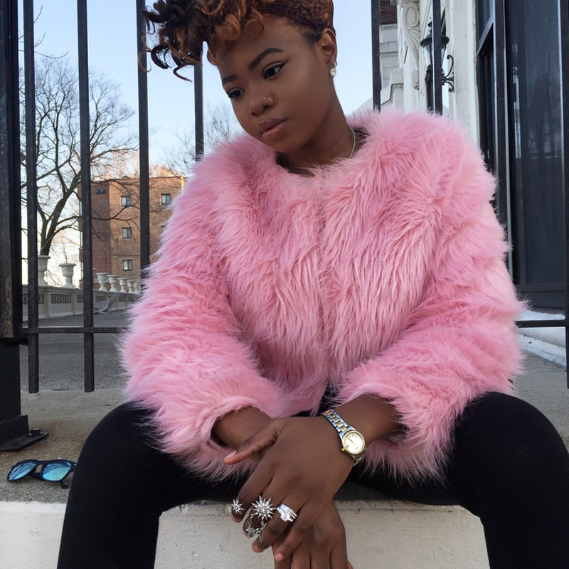 Faux fur pink coat online shopping-the world largest faux fur pink