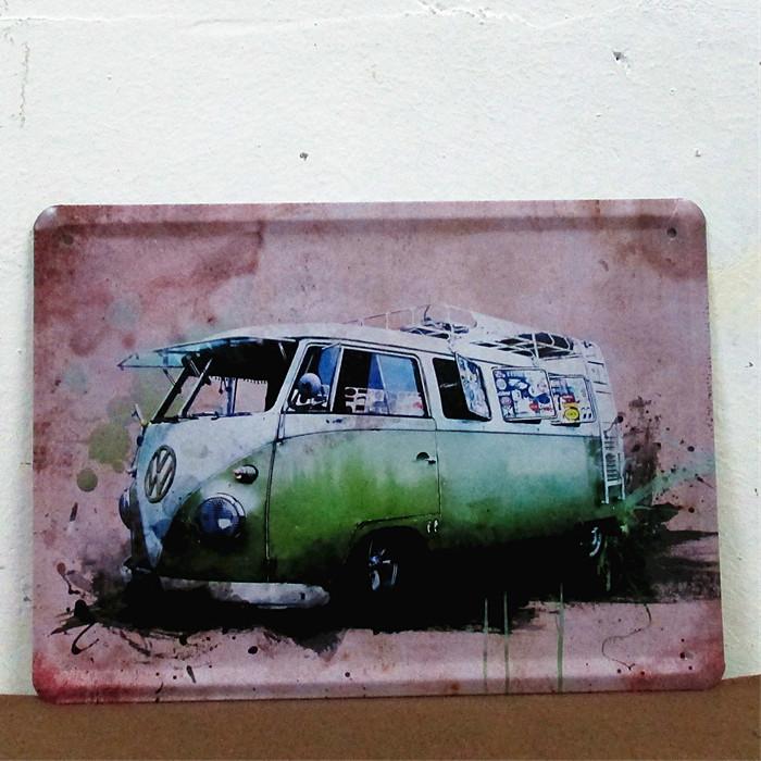 Volkswagen Combi Bus Car Tin Sign Metal Plate Garage Decor O-34 15*20CM(China (Mainland))