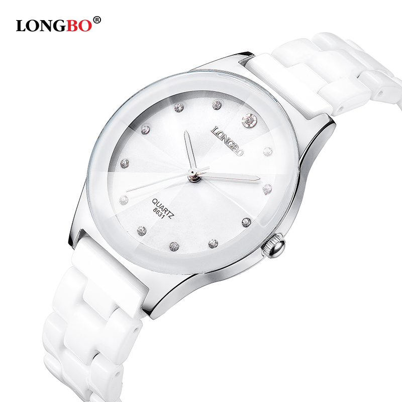 2016 New Luxury Brand LONGBO Mens Women Ceramic Watch Fashion Geneva Couple Watches Male Quartz Wrist watches relojes mujer 8631(China (Mainland))