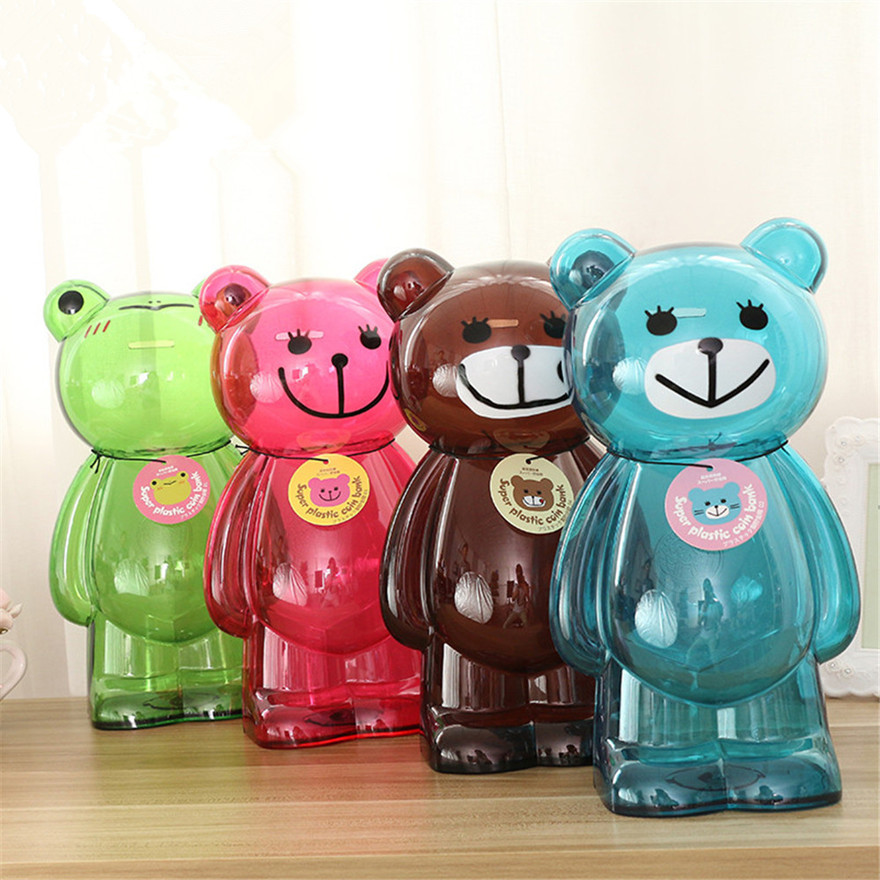Online buy wholesale plastic bear coin bank from china for Plastic piggy banks for kids
