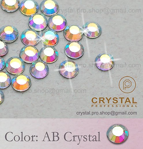 144 pcs 20ss AB Crystal Clear 5mm bulk ss20 glass hot-fix iron on design diy Loose bead stone 1 gross FLATBACK hotfix rhinestone(Hong Kong)