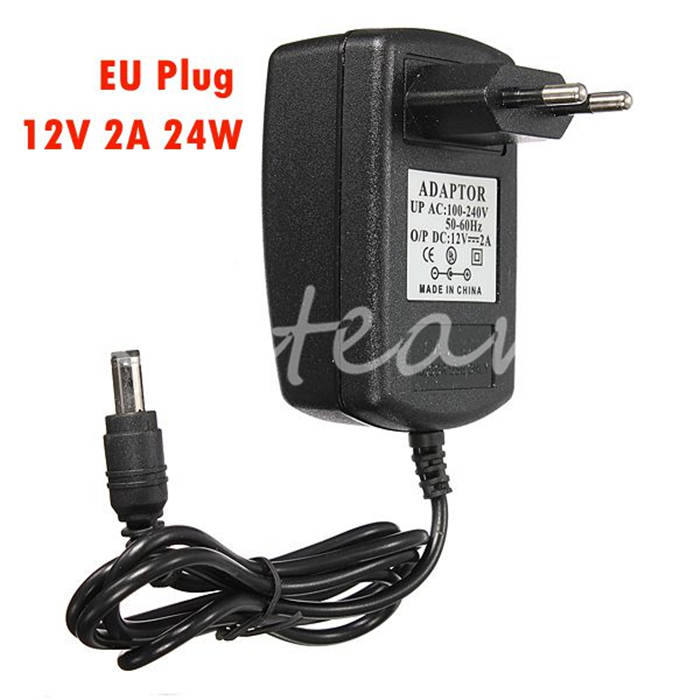 New Universal EU Plug For LED Strips CCTV Security Camera For DC 12V 2A Power Supply AC Adapter Charger(China (Mainland))