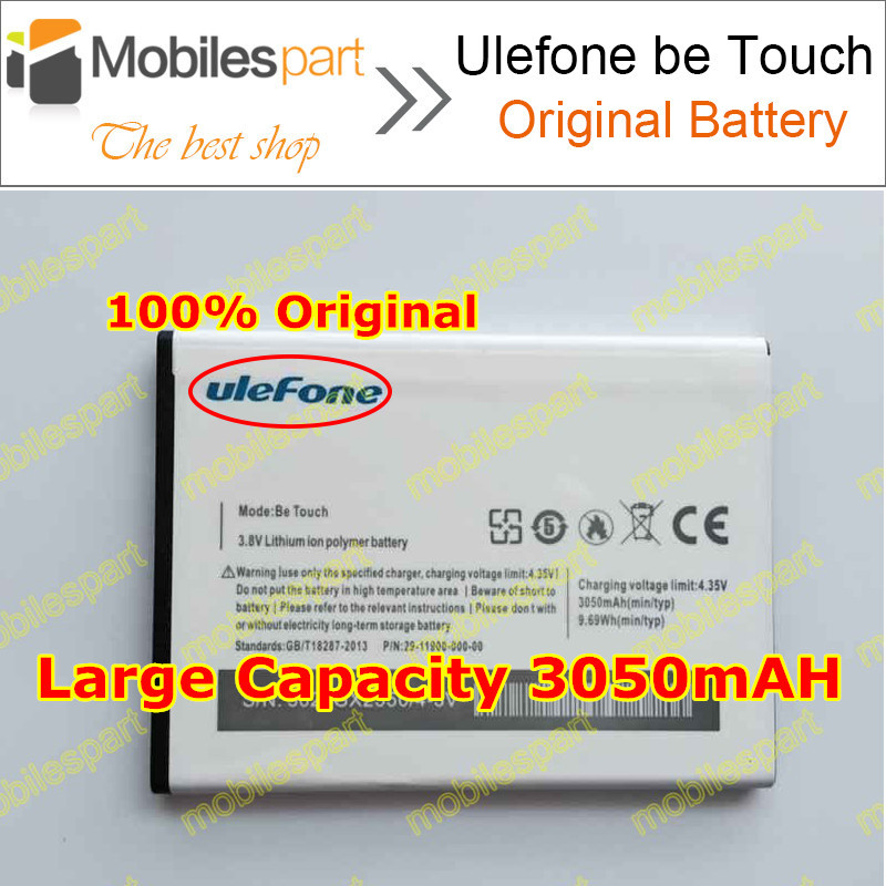 Ulefone Be Touch 2 Battery 100 Original High Quality 3050mAh Back up Battery for Ulefone Be