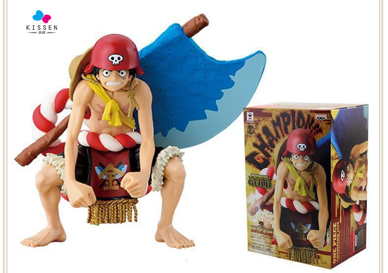 Kissen Anime One Piece Film GOLD Monkey D Luffy Axe Ver.13cm PVC Action Figure Resin Collection Model Toy Gifts Cosplay(China (Mainland))