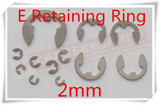 Гаджет  1000pcs/lot  Stainless steel 304 2mm  E Type Circlips Snap ring  washer Retaining ring None Аппаратные средства
