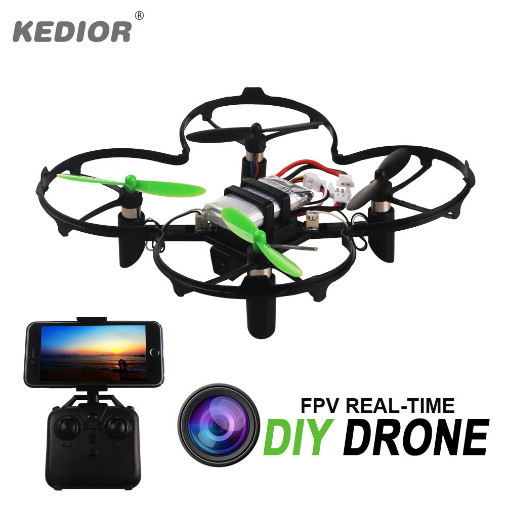 2017 Newest DIY Mini Nano Drone FPV Real-time Rc Dron 100 100mm Remote Control Racing Quadcopter With 0.3MP Wifi Camera(China (Mainland))