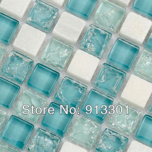 stone tile backsplash pattern 3/5 in. cream white stone and inner crack crystal glass random blend glass mosaic wall tiles floor<br><br>Aliexpress