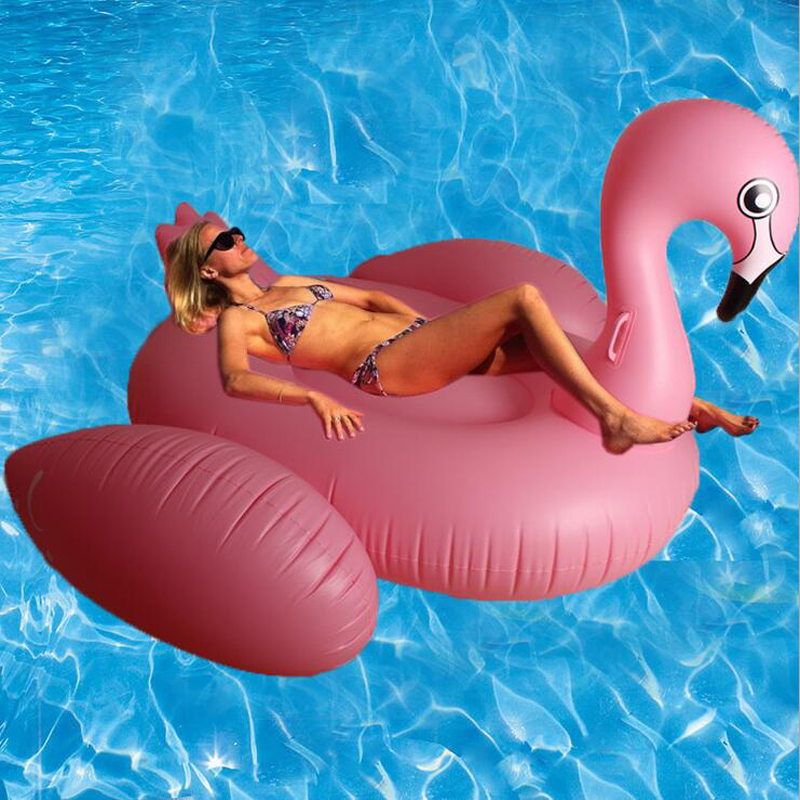150cm Inflatable Flamingo Pool Floats inflatable Swan Swim Pool Toy donut Water Fun Swimming ring Air Rafts for Summer Free DHL(China (Mainland))