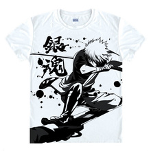 Gintama T-shirts kawaii Japanese Anime t shirt Manga Shirt Cute Cartoon Silver Soul Gin Tama Cosplay shirts 40244441291 tee 358