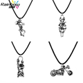 Charm Christmas Gift Men's Fashion Jewelry Long Necklace Sons of Anarchy Necklace Vintage Skull Pendant Necklace for Men