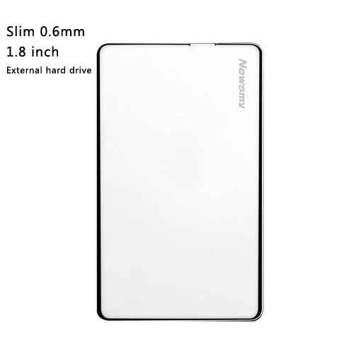 Free shipping Newsmy Mini 1.8 inch external hard drive 80GB Slim 6mm portable HDD disk metal design Plug and Play(China (Mainland))