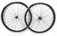 Buy width 23mm straight pull 700C alloy brake surface carbon clincher wheel 38mm powerway hub sale for $340.00 in AliExpress store